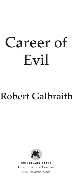 Galbraith Robert - Career of Evil