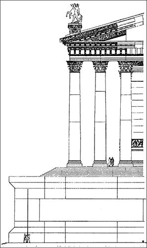 Схема части фундамента храма