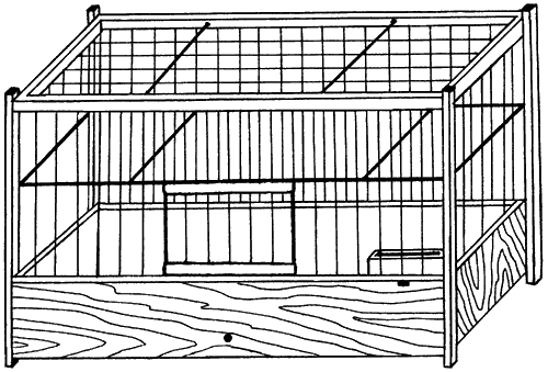 Как сделать клетку для птичек своими руками чертежи