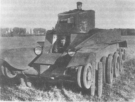танк БТ-2 ИС на колёсном