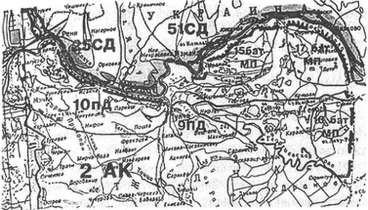 Схема группировки советских
