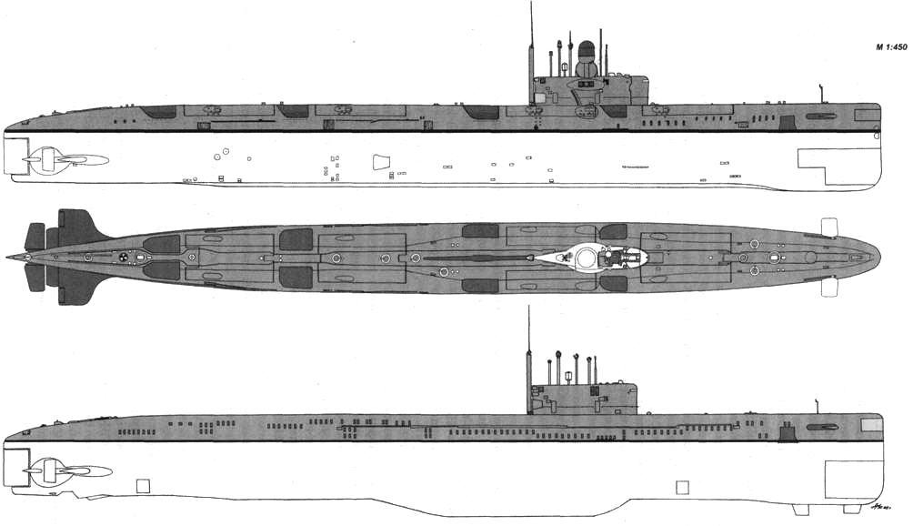 модель атомной подводной лодки проекта 675