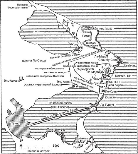 Карта полуострова Карфаген и