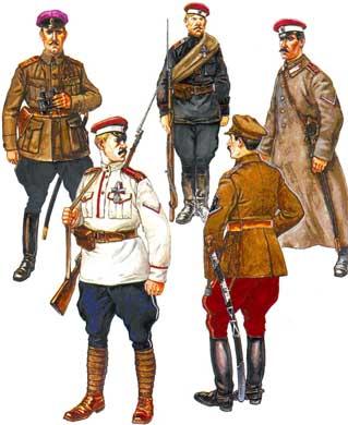 Майор в г науменко в форме полка 1919