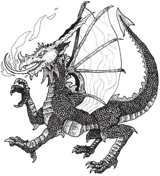 Рисунок красный дракон