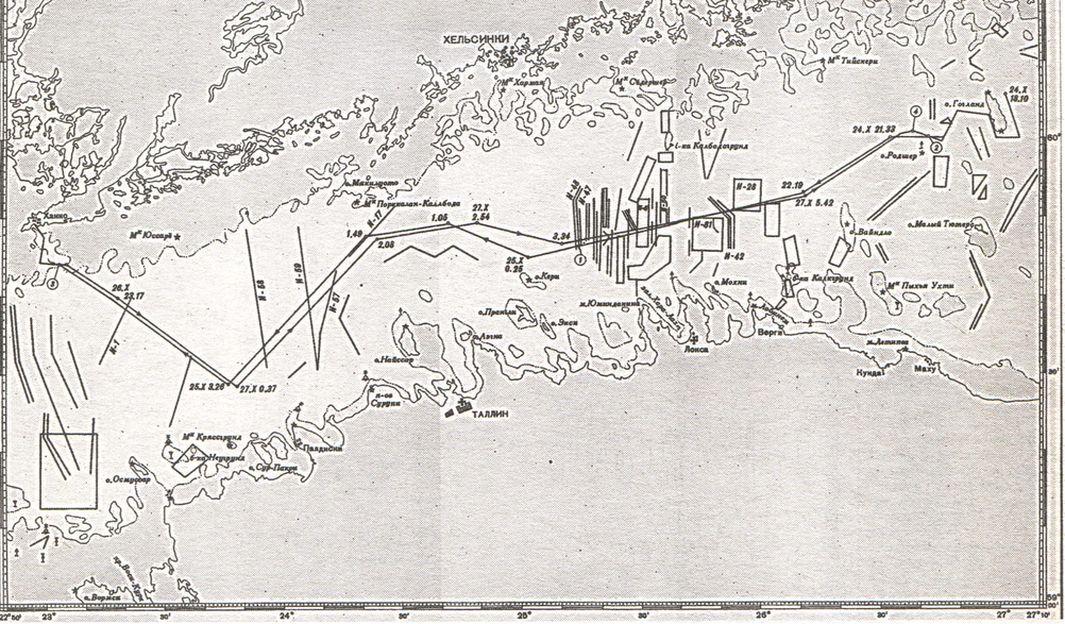 Схема похода отряда базовых