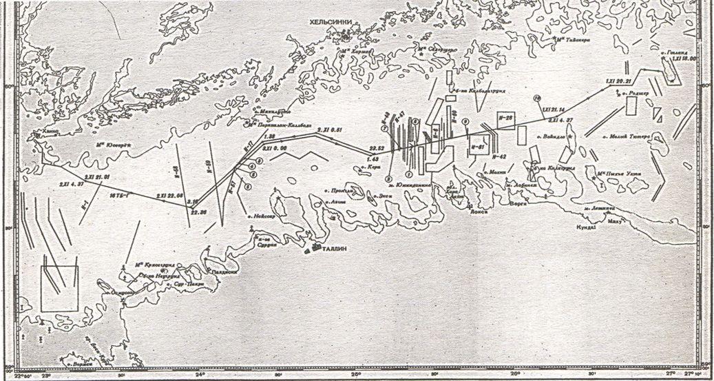 Схема похода первого отряда