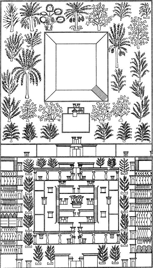 План поместья из гробницы