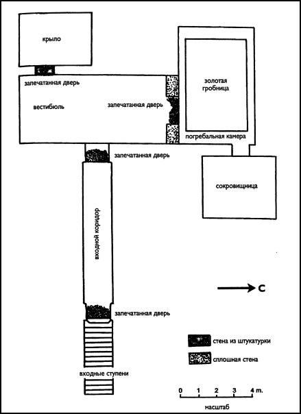 Схема гробницы Тутанхамона.
