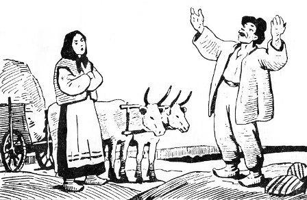 муж зашол в сарай а там жена с канем
