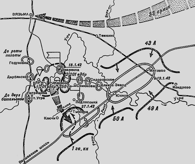 Вязьмы в январе 1942 г.