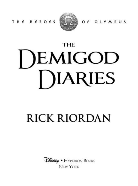 The Demigod Diaries Epub