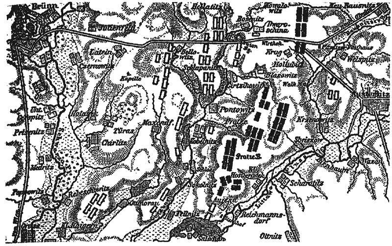 Схема Аустерлицкого сражения