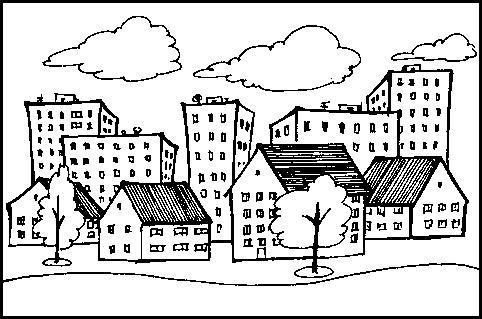 Раскраски домов города