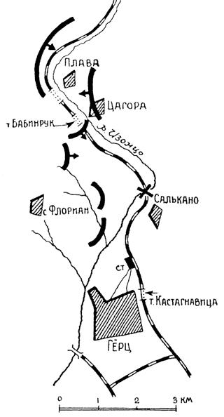 Схема района действий Panzer