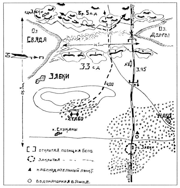 Схема действий бронегруппы