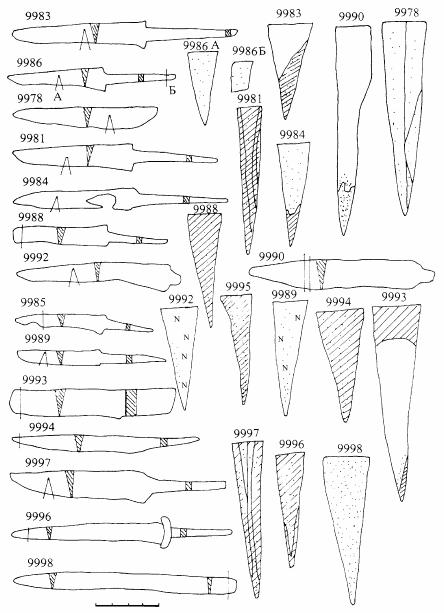 Москва. Ножи XII–XIII вв. и