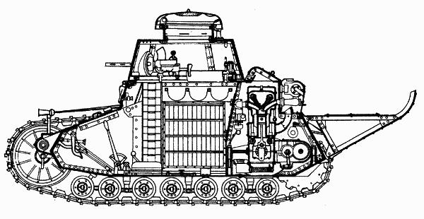 Компоновка танка Т-18