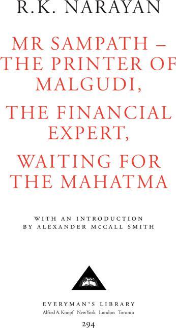 Книга: Mr Sampath-The Printer of Malgudi, The Financial Expert