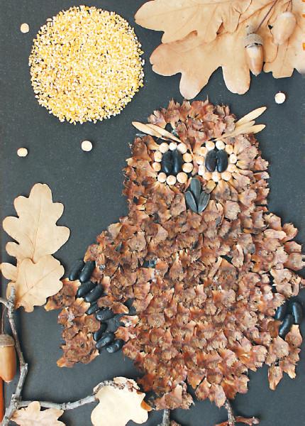 Поделки из природного осеннего материала своими руками
