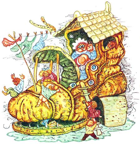 старушка в башмаке