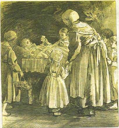 Сынок пришол дамой и увидел бабку со спущенными штанами