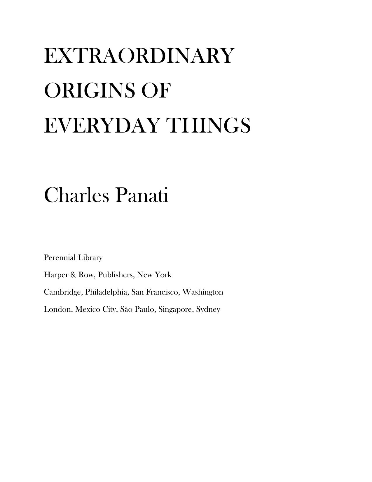Книга: Extraordinary Origins of Everyday Things