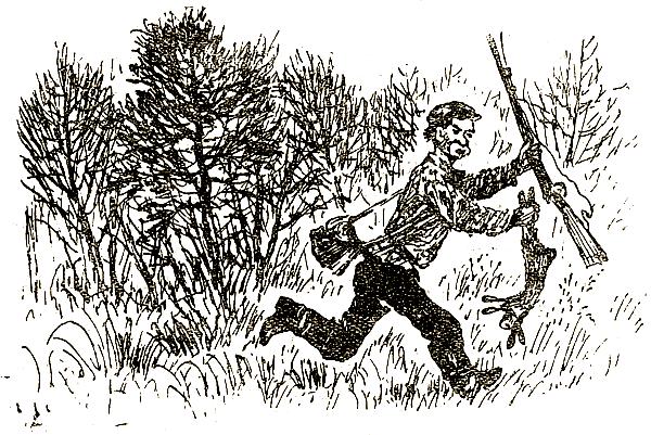 Охота охотник рисунок