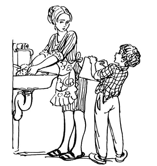 школьник отделал маму