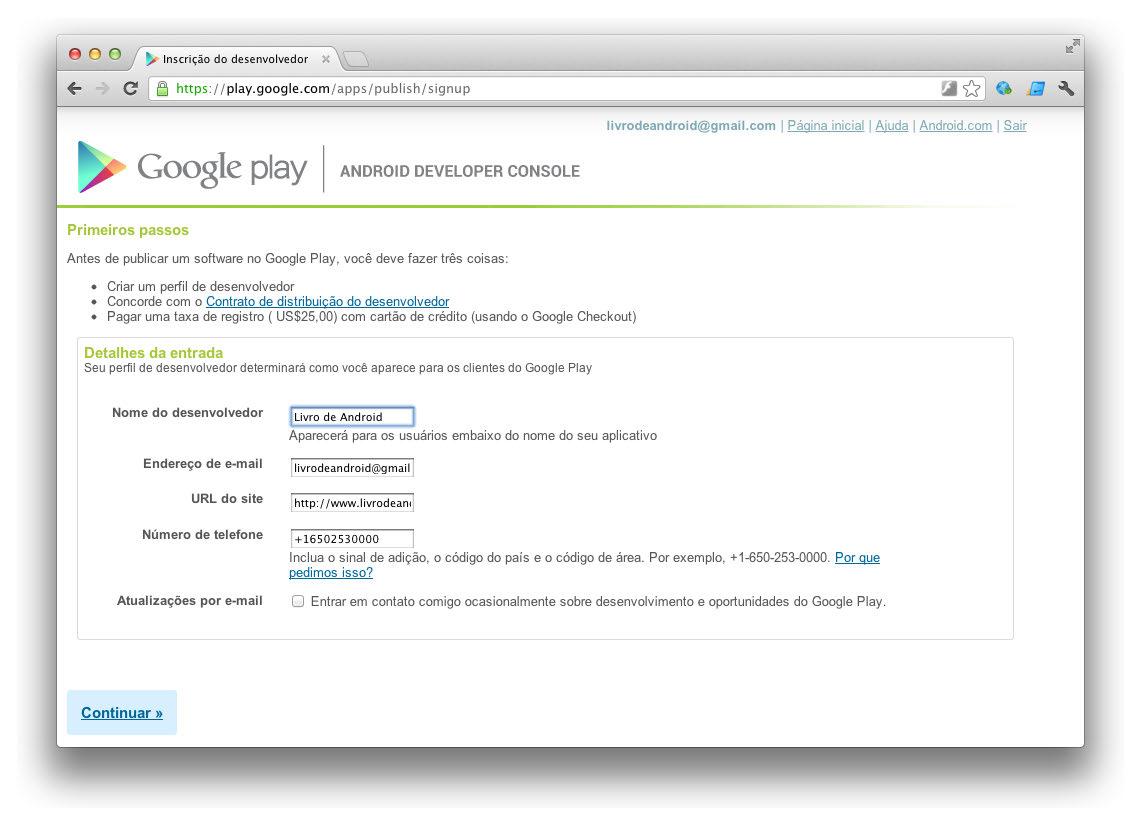 Google android crie aplica es para celulares e tablets - Android google developer console ...