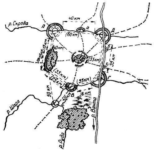 Схема укрепленного района