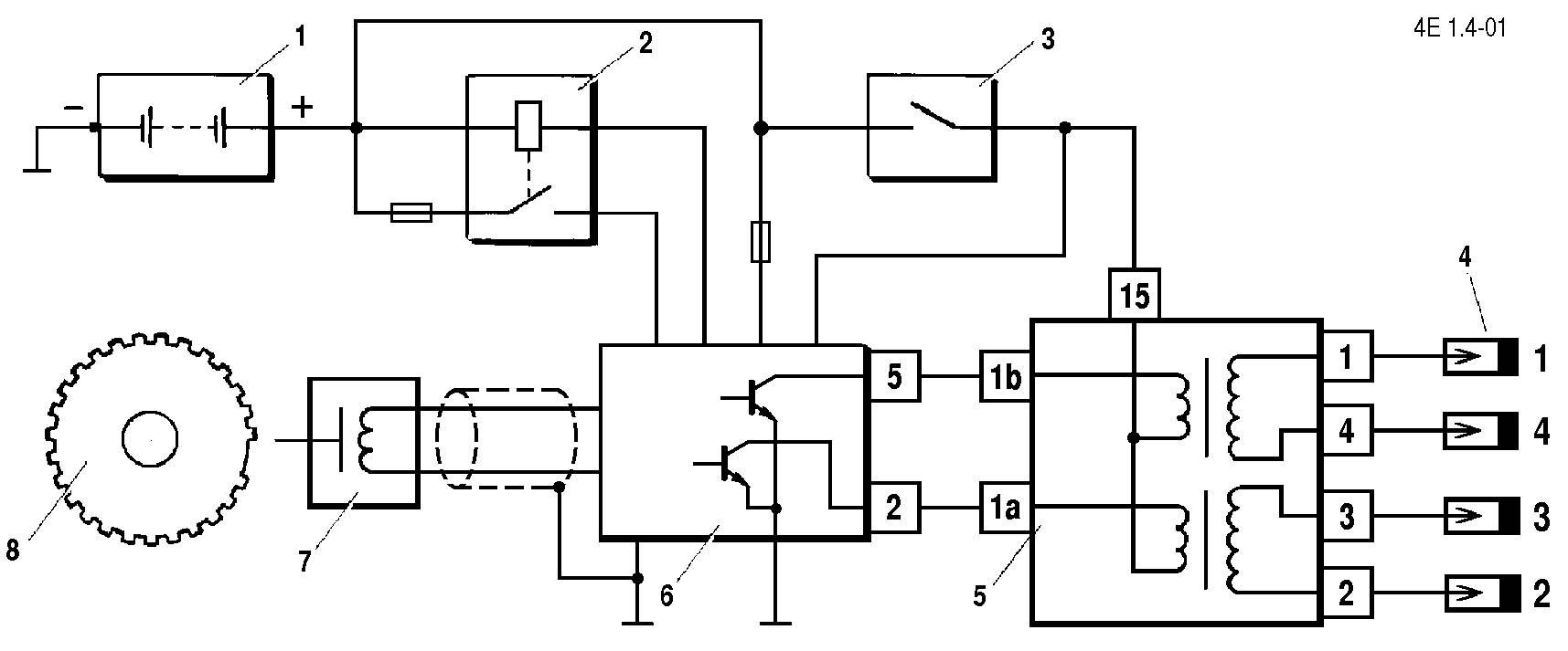 двигатель 1 6 8 клап бензонасос схема