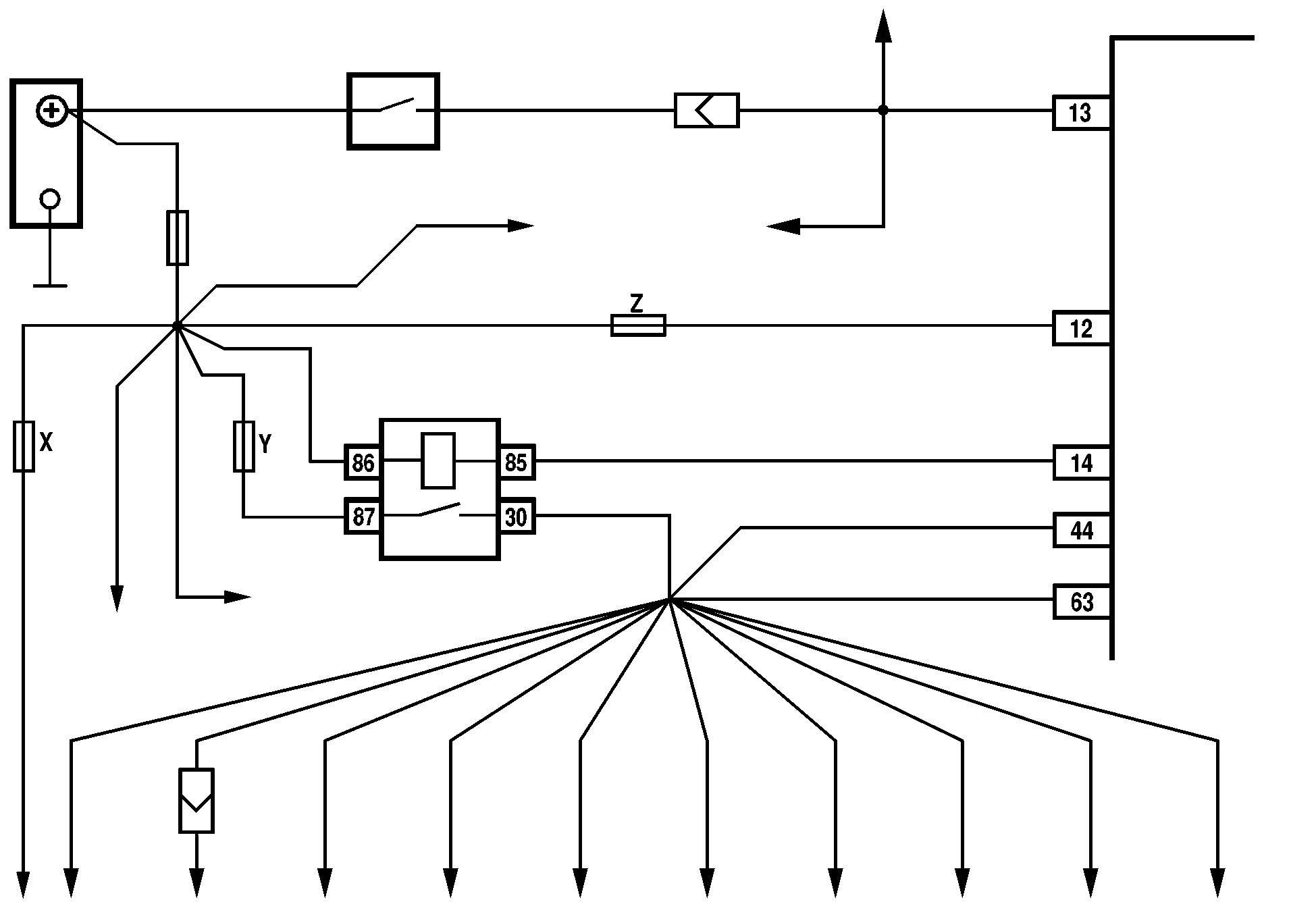 схема подключения стартера howo