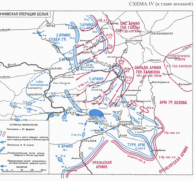 Карта боевых действий на северном кавказе в ходе гражданской войны