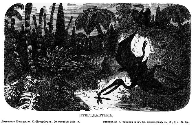 Очерк происхождения и развития земного шара, с рисунками первобытных растений и животных