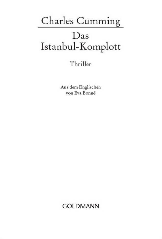 Книга: Das Istanbul-Komplott