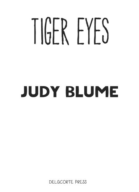 Книга: Tiger Eyes