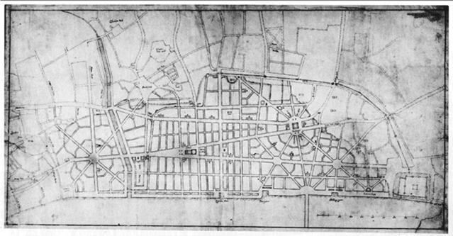 Его схема планировки города в