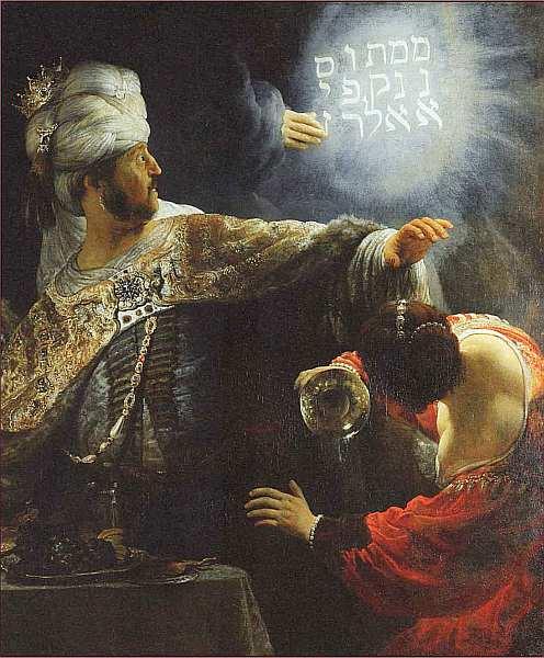 Какие художники обращались к сюжету пир вслтасара