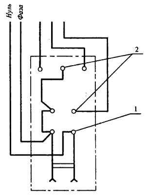 Схема выключателя туалет ванная