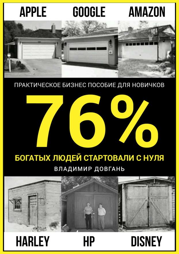 76 процентов богатых людей стартовали с нуля