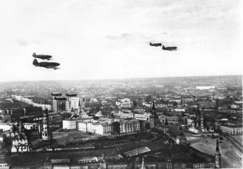 Первая бомбардировка Москвы 22 июля 1941 года