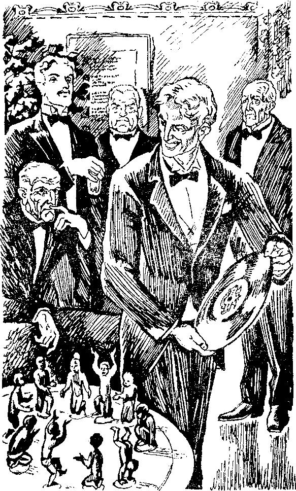 Рисунок карандашом десять негритят вокруг костра