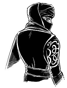 Черный байкер