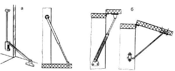 Схемы установки кронштейнов