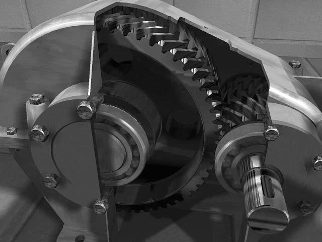 шевронный редуктор (корпус