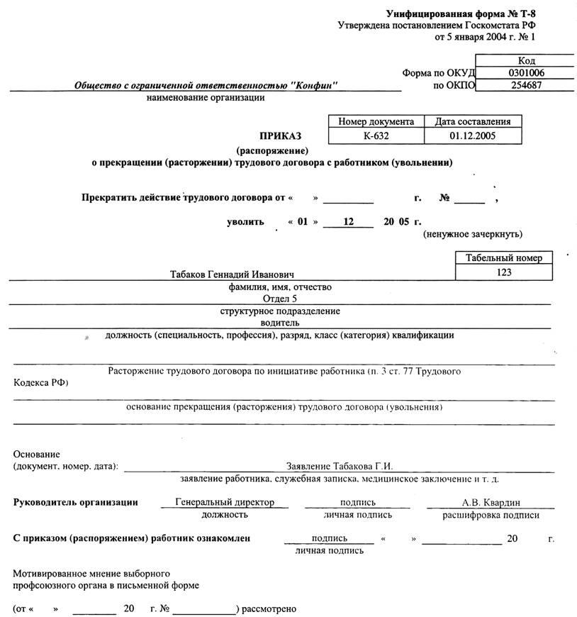 образец приказа о присвоении квалификационного разряда