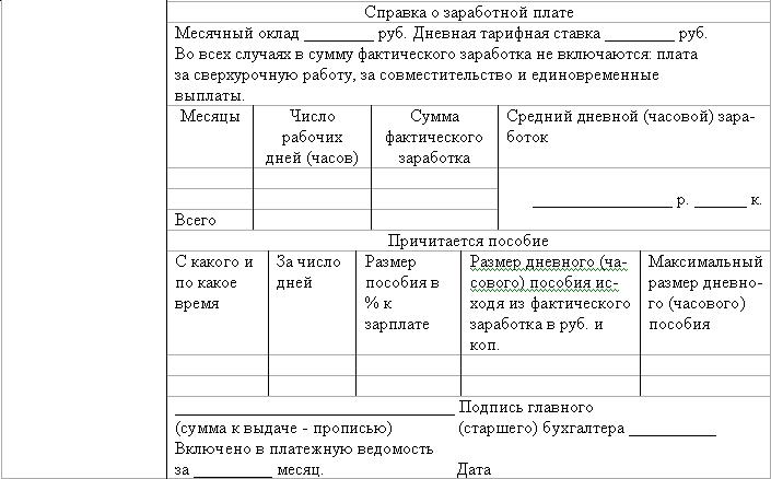 Инструкция о порядке исчисления пособия по временной нетрудоспособности