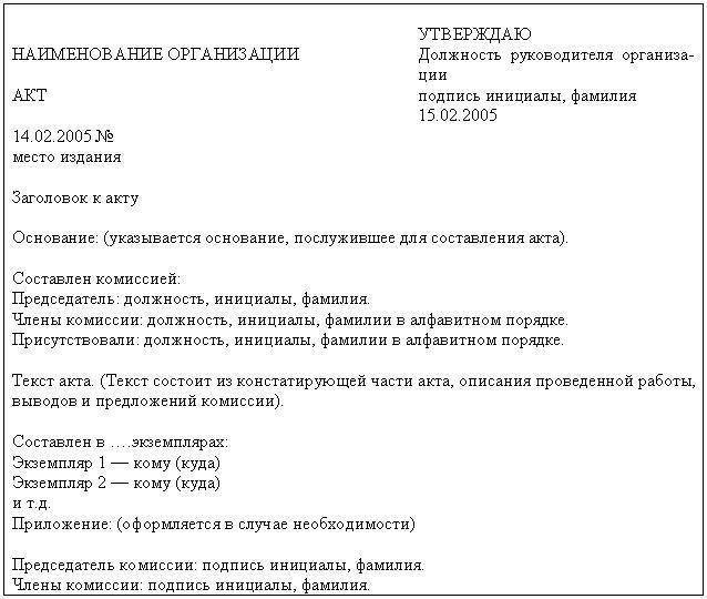 Бланк письма по инструкции по делопроизводству