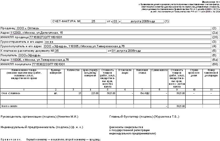 Письмо о замене счета-фактуры образец